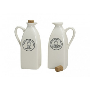 Porcelánové nádoby na olej a ocet