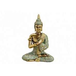 Buddha sedící polyresin 23x33x14cm