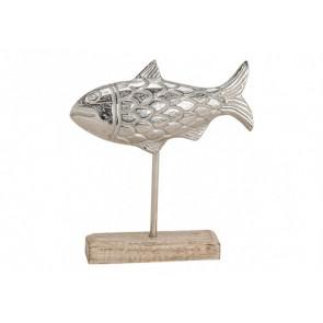 Dekorace ryba na podstavci 22x20x5 cm