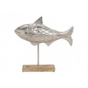 Dekorace ryba na podstavci 32x31x5 cm
