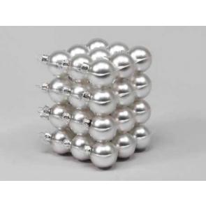 Vánoční skleněné ozdoby 36ks stříbrná 4cm