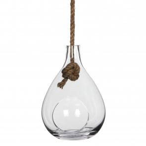 Závěsná skleněná váza Sil