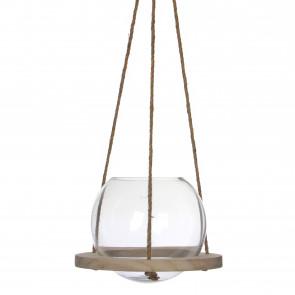 Závěsná skleněná váza