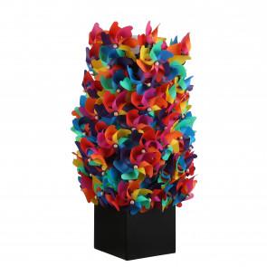 Plastový větrník multicolor 24x11x61cm, 1ks