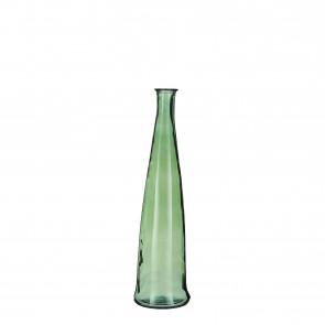 Skleněná váza Alto zelená 80x18cm