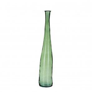Skleněná váza Alto zelená 100x18cm