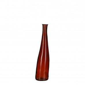 Skleněná váza Alto tm. hnědá 80x18cm