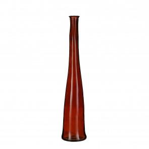 Skleněná váza Alto tm. hnědá 100x18cm