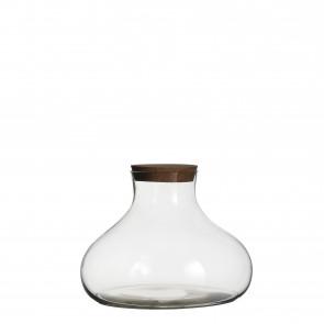 Skladovací sklenice s korkem Gilly 22x23cm