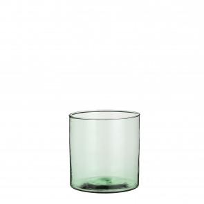 Skleněná váza Anabella zelená 19x19cm