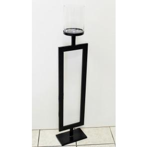 Svícen kov/sklo černý 117cm