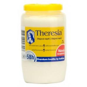 Theresia kompozitní svíčka 155 g bílá