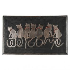 Gumová rohožka 7 koček 45x75cm