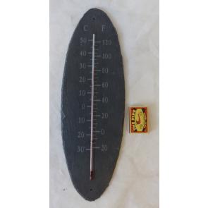 Teploměr břidlicový oválný 43x16cm