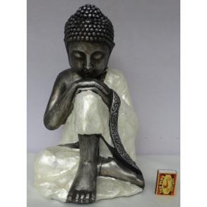 Buddha sedící s mušlemi 38cm