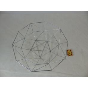 Kovový košík tiangle design 40,5x38,5x11cm