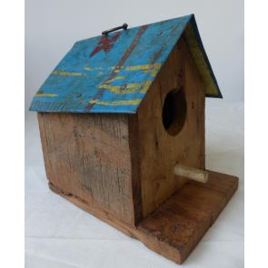 Ptačí budka dřevo/plech 20x20cm