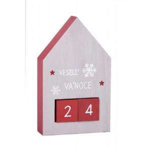 Domek adventní kalendář
