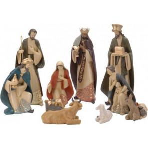 Betlém 10ks keramických figurek