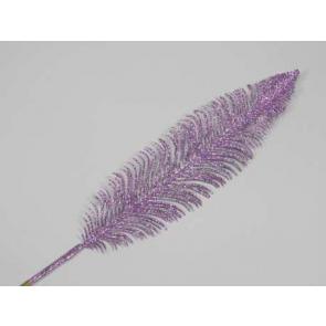 Dekorace peří, 56cm, fialová, 1 ks