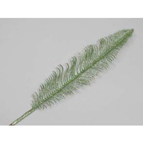 Dekorace peří, 56cm, zelená, 1 ks