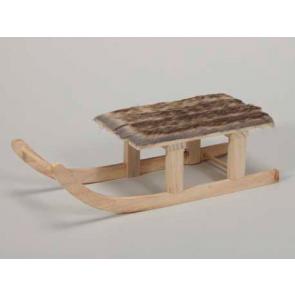 Dekorace dřevěné saně  35x13,5x10cm