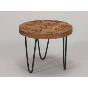 Dřevěný stolek kovové nohy  20x16cm