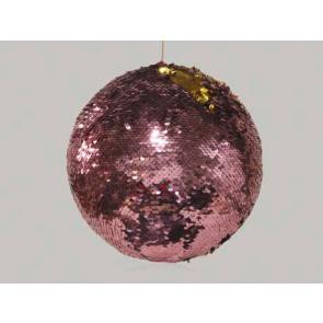 Dekorační koule závěsná růžovo/zlatá 10cm