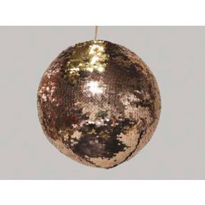 Dekorační koule závěsná hnědo/zlatá 12cm