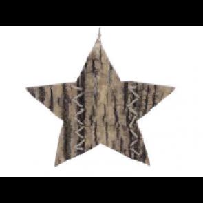 Dekorace hvězda přírodní 19cm