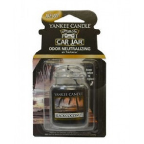 YANKEE CANDLE visačka do auta - Black Coconut
