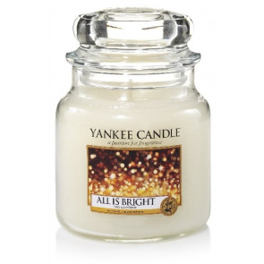 YANKEE CANDLE Classic střední - All is Bright 411g