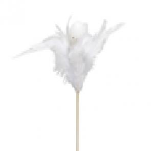 Vajíčko zápich s peřím bílé