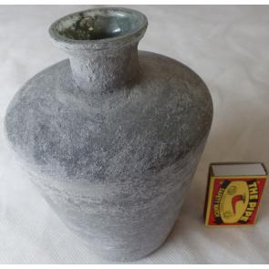 Váza skleněná 11x5x15cm šedá