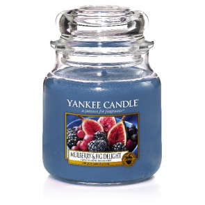 YANKEE CANDLE Classic střední - Mulberry & Fig Delight 411g