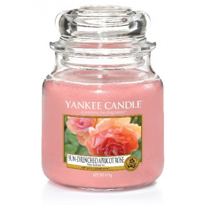 YANKEE CANDLE Classic střední - Sun-Drenched Apricot Rose 411g