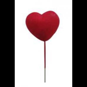 Dekorace srdce na špejli