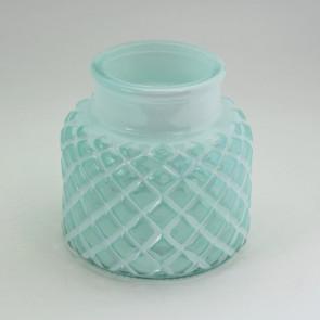 Svícen sklo pr.12,3xv12cm zelená