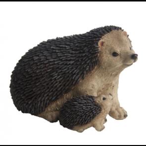 Polyresin Ježek s malým ježečkem 11x16x11cm