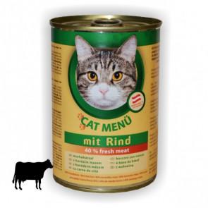 Konzerva Cat menü hovězí 415g