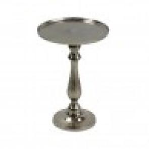 Kulatý podnos, stříbrný, hliník 24x24x36cm