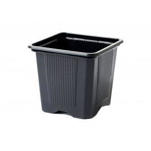 Kontejner měkký plastový černý 9x9x8 cm, 10 kusů