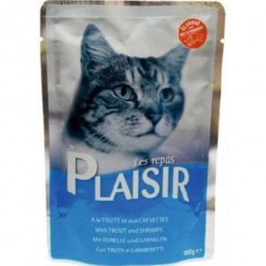 PLAISIR CAT pstruh + krevety 100g