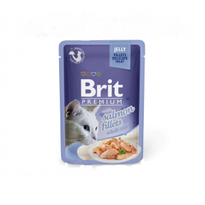 Brit Premium Cat filety s lososem v želé 85g