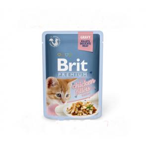Brit Premium Cat filety s kuřetem ve šťávě 85g pro koťata