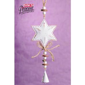 Dekorace 5170 závěsná hvězdička
