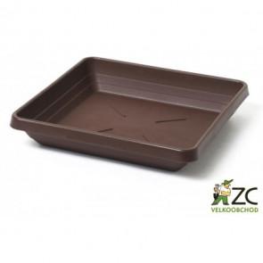 Miska čtyřhranná Lotos 35x35cm čokoládová