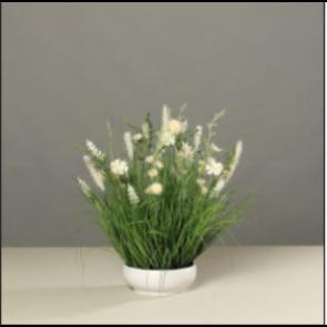 UK Kvetoucí tráva v plastové misce 50 cm