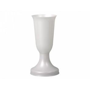 Váza hřbitovní ADONIS těžká bílá perleť