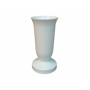 Váza hřbitovní KALICH d12x24h/těžká bílá